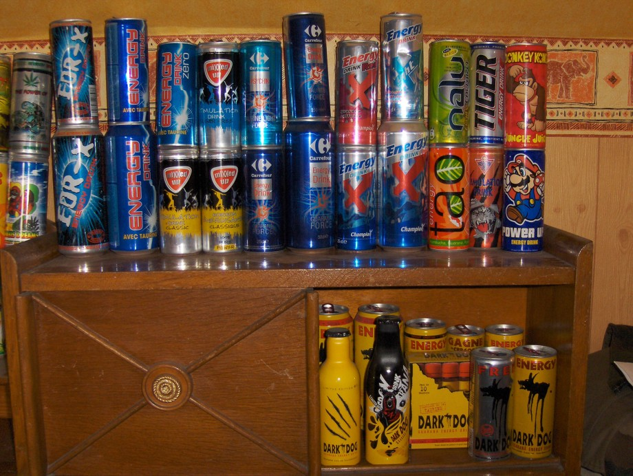 collection de canette energy drink collection