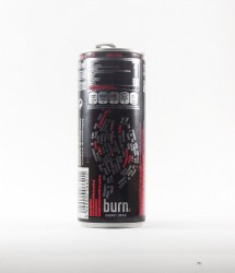 Burn energy drink - Canette Burn - burn classic avec ecriture flames (2)