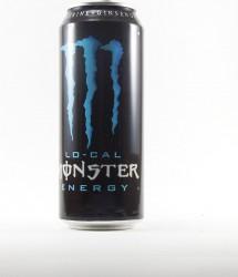 Monster energy drink - Canette Monster - canette bleu classique 500ml size does matter  (2)