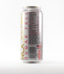 Rockstar energy drink - Canette Rockstar - version blanche grande sans sucre (2)