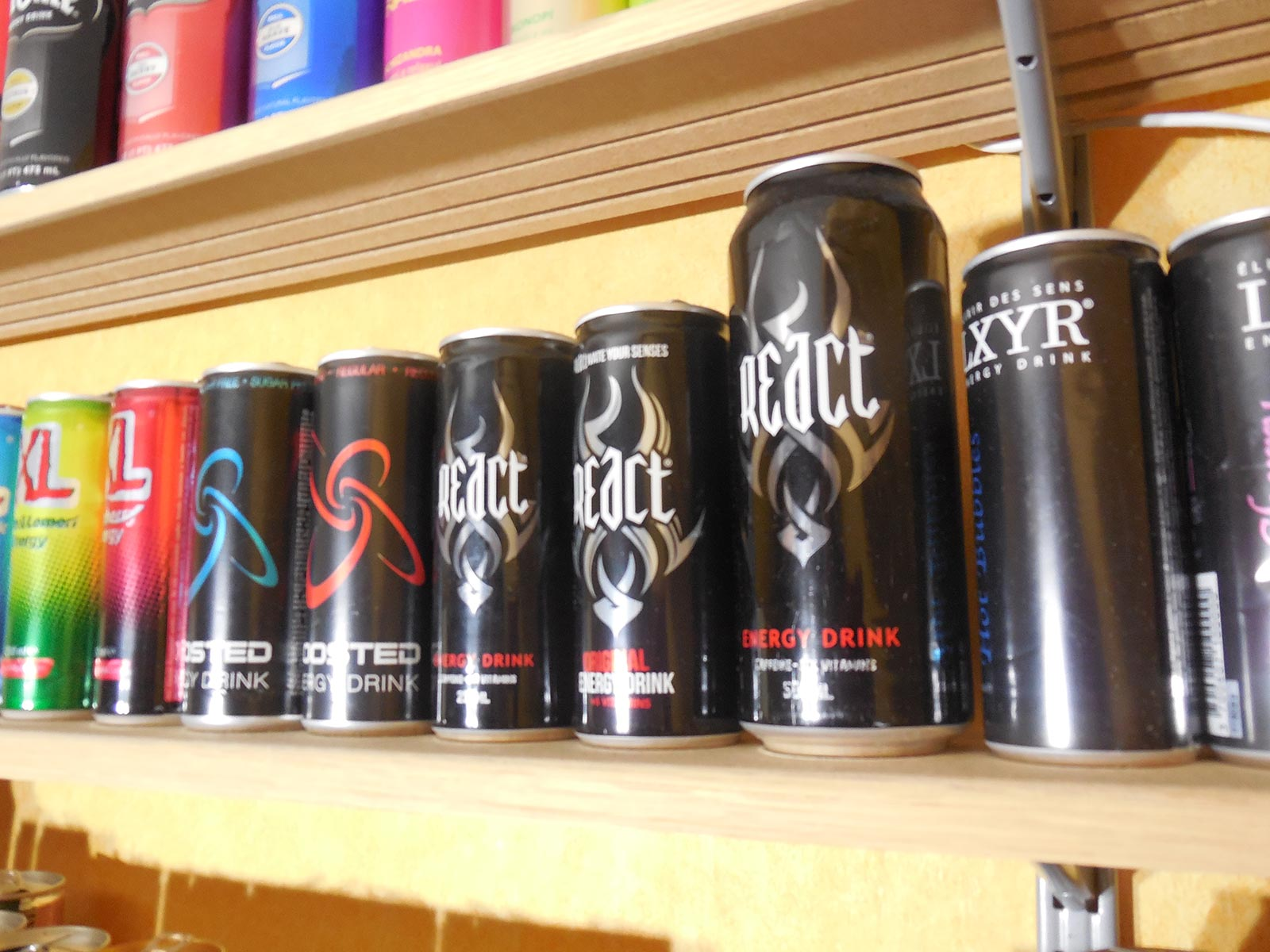 Collection React Energy drink
